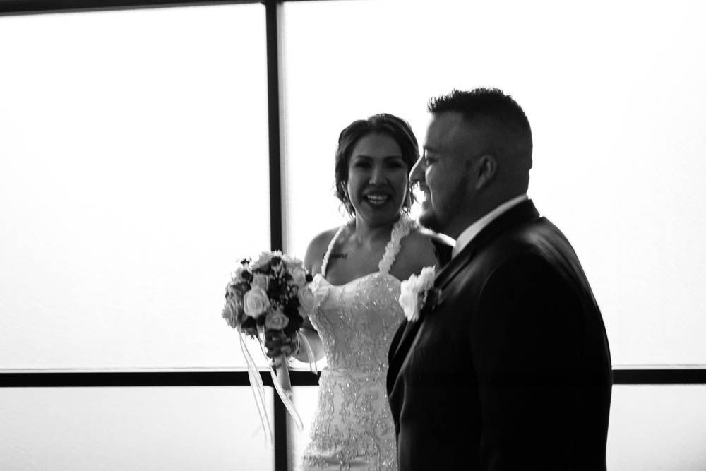 Just Married. Black and White Wedding Photos